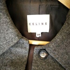 EUC Céline wool and cashmere short coat